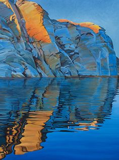 A New Day, Oil, 40x30 by Ron Larson Oil ~ 40 x 30, Lake Powell