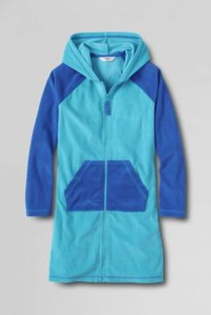 Girls' Zip-front Terry Cover-up from Lands' End