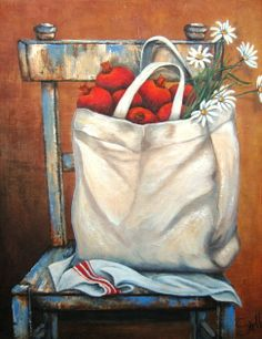 Art Painting by Stella Bruwer includes Bag with pomogranates, this example of Still Life has inspired this exceptionally talented artist. View other Paintings by Stella Bruwer in our Online Art Gallery. Stella Art, Decoupage, Different Forms Of Art, Creation Photo, Country Paintings, Country Art, Art Themes, Kitchen Art, Beautiful Paintings