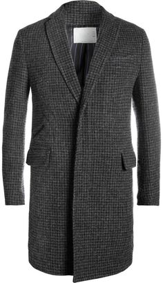 Sacai Slim-Fit Check Wool and Cotton-Blend Coat on shopstyle.co.uk