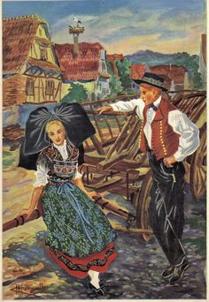 Alsace, Lorraine, European Costumes, Alsatian, Folklore, Traditional Outfits, Images, France, Culture
