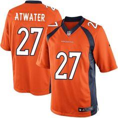 Nike Limited Steve Atwater Orange Youth Jersey - Denver Broncos #27 NFL Home
