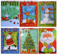 Extra Large Christmas/Holiday Gift Bags 18' x 13' x 4' (6 Pack) * Don't get left behind, see this great product : Wrapping Ideas