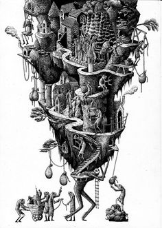"Phlegm – ""Civilisation"" Print. This man is absolutely brilliant. My favorite street artist by far."