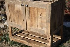 YOUR Custom Rustic Barn Wood Vanity or Cabinet with a Shelf