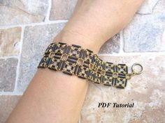 Bracelet Tutorial Bugle Bead Pattern DIY Bracelet Beaded #diyjewelry