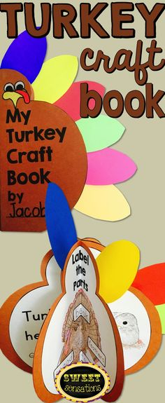 Thanksgiving Turkey craft that is also a 3D book - perfect activity for the lead up to the Thanksgiving holiday.