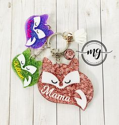 etc sister Personalised Handmade Elephant Keyring Bag Charm Gift choose mum
