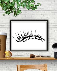 Bat Those Lashes, Makeup Print, Lash Decor, Lash Sign, Eyelashes, Eyelash Print, Eyelash Wall Art, Vanity Decor, Makeup Decor, Eye Lashes by StarPrintShop on Etsy