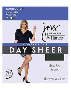 159b935d0 Just My Size - Women s Smooth Finish Control Top Panty Hose - Walmart.com