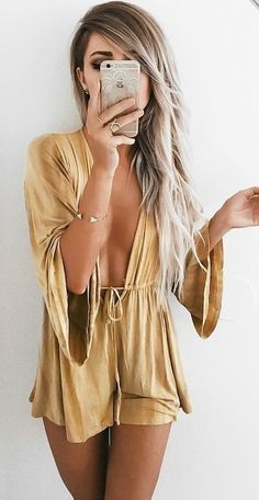 Mustard Romper                                                                             Source