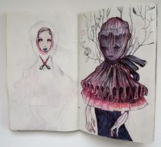 Nightmare Sketchbook by Liza Corbett | InspireFirst  I adore the Sketchbook Project and one of these days I will be brave enough to participate.
