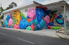 "Jason Botkin, ""Captain Jacques-Yves Cousteau"" for Sea Walls 2015 Cozumel, Mexico, Murals Street Art, Mural Art, Street Art Graffiti, Reverse Graffiti, Sea Murals, Wall Murals, Jacques Yves Cousteau, Urban Painting, Land Art"
