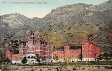 Provo Utah bird's eye view of the state mental hospital antique pc (Y8304)
