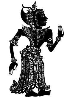 """Character from film 'Sita Sings the Blues,"""" modeled on traditional Indian shadow puppets. Shadow Art, Shadow Play, Puppetry Theatre, The Secret Of Kells, Rama Sita, Shadow Theatre, Marionette Puppet, Shadow Puppets, Indian Art"""