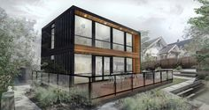 Shipping container homes are extremely popular. Find out the real pros, cons, and cost comparison to building a shipping container home. Prefab Container Homes, Storage Container Homes, Building A Container Home, Container Cabin, Shipping Container Home Designs, Shipping Containers, Modern Prefab Homes, Modern Cabins, Modern Houses