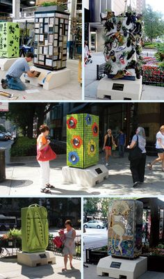 Refrigerators turned into Public art project