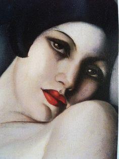 """mote-historie: """" The Dream, detail, Painting by Tamara de Lempicka (Polish Art Deco painter, Oil on canvas - Collection of Mrs. Art Deco Paintings, Art Deco Artists, Art Nouveau Pintura, Pinturas Art Deco, Art Quotidien, Tamara Lempicka, Estilo Art Deco, Art Deco Stil, Art Deco Movement"""