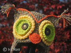 crochet owl hat baby