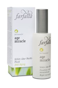 Farfalla Age Miracle night miracle fluid #organic #vegan natrue certified natural cosmetics