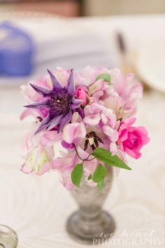 pink & purple flowers for boho garden wedding - Luxe Events