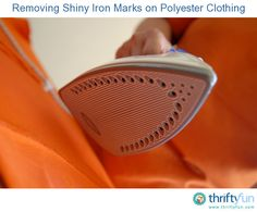 This is a guide about removing shiny iron marks on polyester clothing. The shiny marks left on polyester clothing by a too hot iron are quite likely scorched or melted synthetic fibers.