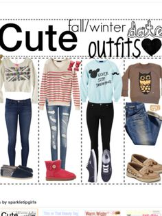 Omg date night outfits (stolen from my 13year old cousin) lol