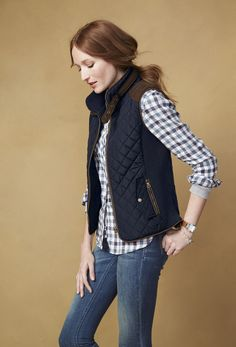 We can't get enough of the quilted vest trend. So easy to layer with just about everything!