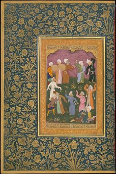 """Mir 'Ali Haravi (India, d. ca. 1550). """"Dancing Dervishes"""", Folio from the Shah Jahan Album, ca. 1530-50. The Metropolitan Museum of Art, New York.  Purchase, Rogers Fund and The Kevorkian Foundation Gift, 1955 (55.121.10.18)."""