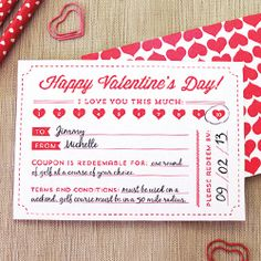 Valentine's Day is just around the corner! These cute printable coupons are a great gift idea. And they're free!