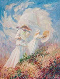 Think This Is Just a Dancing Couple? Take a Closer Look — You'll Be Amazed! A Windy Day - Claude Monet Optical Illusion Paintings, Illusion Drawings, Art Optical, Illusion Art, Cool Illusions, Optical Illusions, Dessin Lolirock, Illusion Pictures, Surreal Art