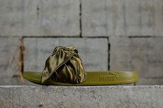 2d4a7dcaed293a Mode PUMA Bow Slide Womens Rihanna Fenty 2018 Spring Summer Sneakers  365774-01 Dark Green Youth Big Boys Shoes