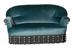 19th-C. Velvet Empire Settee on OneKingsLane.com