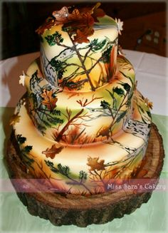 hunting birthday Cake Ideas for Men CamoDeerHunting Cake Cake