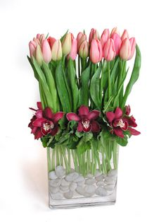 Tulip Floral Centerpieces And Centerpieces On Pinterest