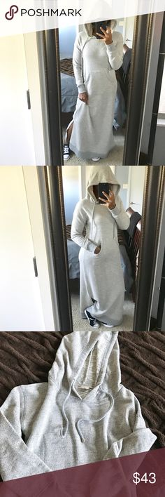 Cozy Hooded Maxi Dress!!! Ok so yes, Winter is over, but I know it's still chilly in some areas!! This dress is super comfy and cozy and perfect for a casual day out!! Features a functioning kangaroo pocket and drawstring hood!! I would keep, but it does not get that cold where I live! Gently used!! SIZE XSMALL BUT RUNS LARGER!! Soft Surroundings Dresses Maxi