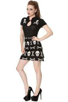 Banned The Afterlife Skull Alternative Mini Dress  | eBay