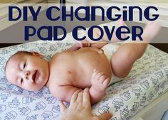 DIY Changing Pad Cover- Make your own changing pad cover to match your #nursery design