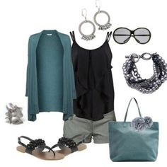 love cardigans with shorts in the spring! (jewelry by Premier Designs) Estilo Boyish, Mode Style, Style Me, Premier Designs Jewelry, Premier Jewelry, Fashion Outfits, Womens Fashion, Fashion Styles, High Fashion