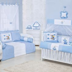Quarto para Bebê Anjinho Azul