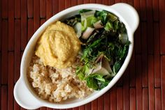 Lemon-Miso Macro Bowl with Miso-Braised Swiss Chard and Lemon Chickpea Dressing