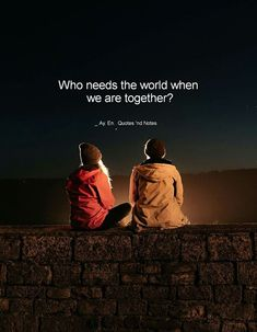Who needs the world when we are together? via (http://ift.tt/2suxGcI)