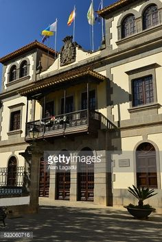 Gran Canaria, Spain, - December 24, 2015: The Teror Town Hall... #teror: Gran Canaria, Spain, - December 24, 2015: The Teror Town… #teror