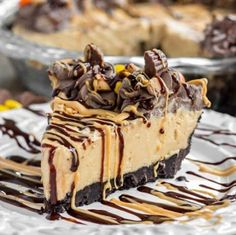 This No Bake Peanut Butter Pie is easy, rich, creamy and delicious!
