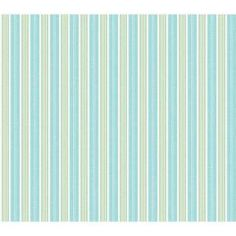 The Wallpaper Company 56 sq. ft. Blue and Green Fun Stripe Wallpaper-WC1285042 at The Home Depot