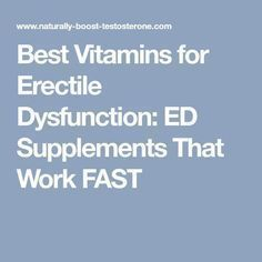 cure ed naturally fast