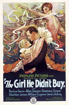 Movie Poster Art: The Girl He Didn't Buy (1928)