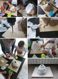 ¿Hacemos un experimento diy para el cole? ¿Descubrimos la reacción de los volcanes con un volcán casero? Educational Activities For Kids, Infant Activities, Art Activities, Volcano Activities, Volcano Science Projects, School Science Projects, Kid Science, Easy Crafts For Kids, Diy For Kids