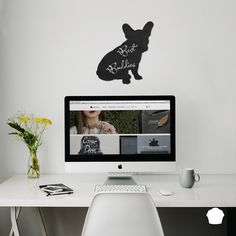 My Home is where my Frenchie is #ideaboard #design #homedecor #chalkboard #frenchie