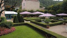 Les jardins de l'Hôtel-Restaurant La Pyramide à Vienne (Isère)